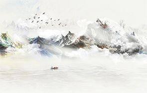 山水雲霧 08872