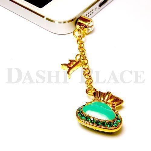 手機吊飾-金綠-財寶-種子字