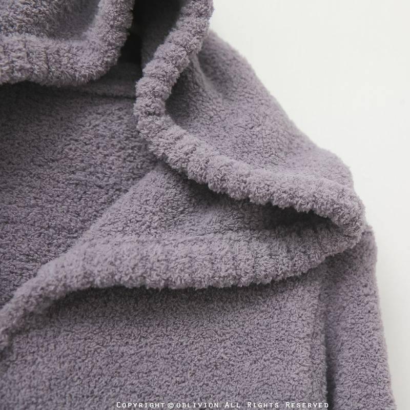 男暖綿綿連帽配色外套