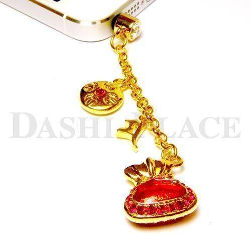 手機吊飾-金晶紅-財寶-羯摩-種子字