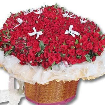 《天長地久》999朵玫瑰花束