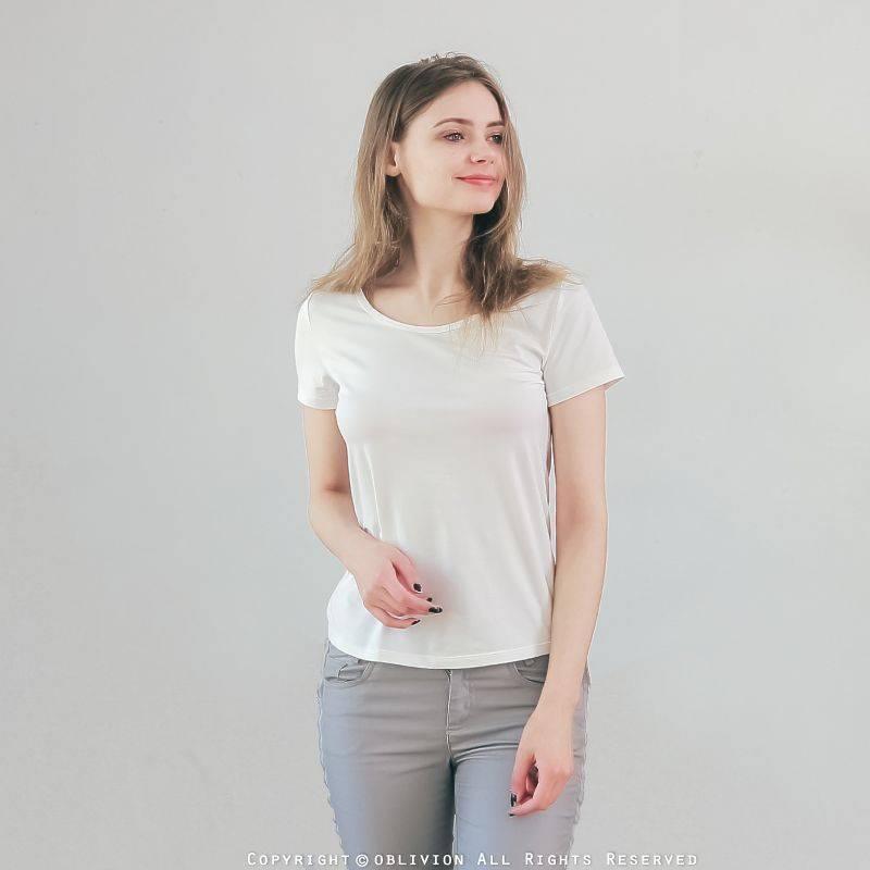 女木代爾混棉超細密圓領上衣