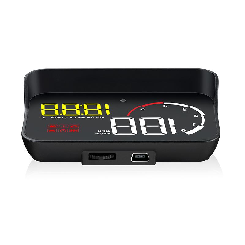 領先者 M10 彩色高清3.8吋 HUD OBD2多功能汽車抬頭顯示器