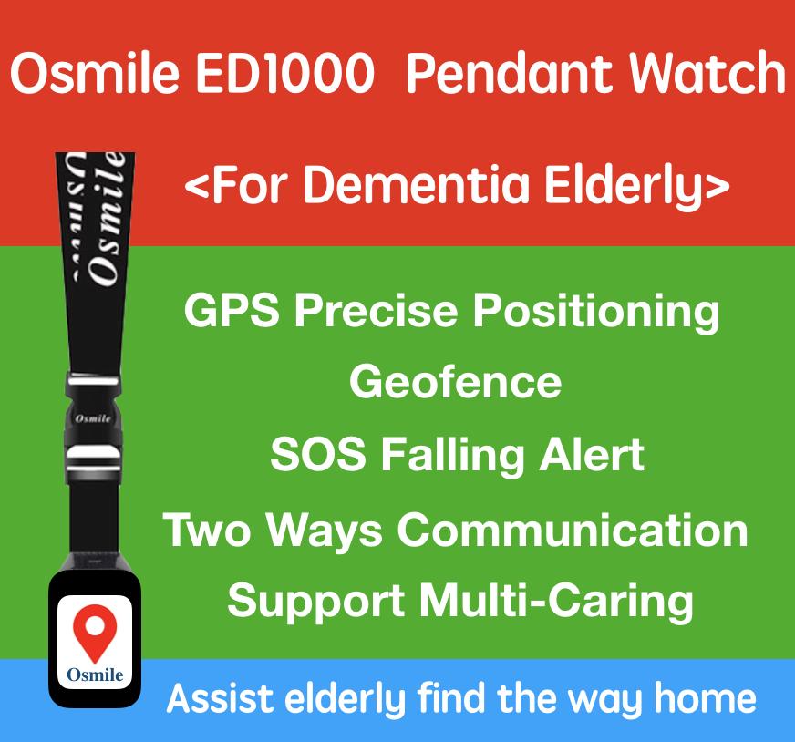 Osmile ED1000 - Senior Dementia & Alzheimer GPS tracker Pendant