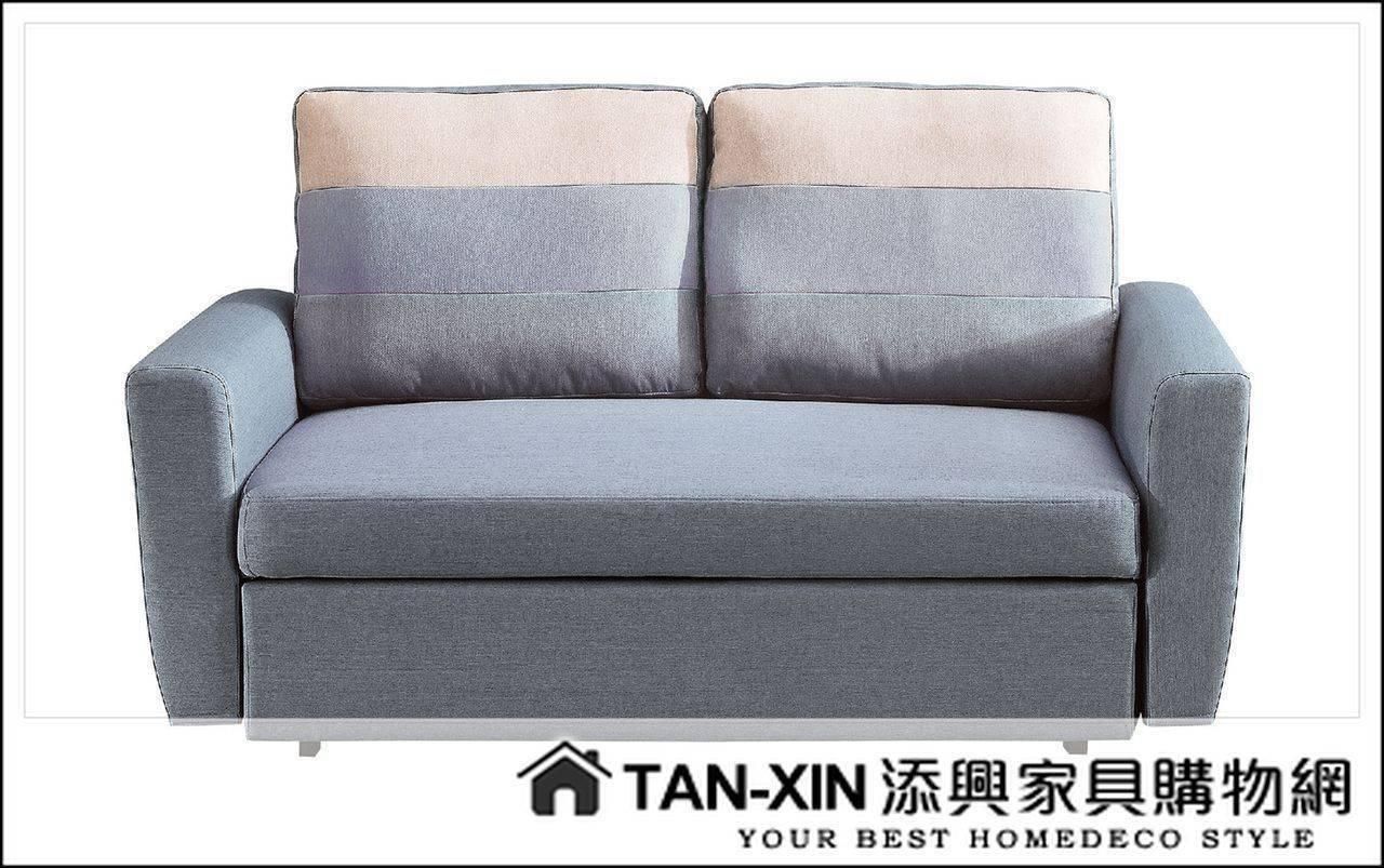 【添興家具】P351-2 H30#灰色布雙人沙發床(雙扶手)  ~大台北區滿5千免運
