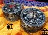 西藏【八吉祥藏香爐 盤香/塔香/香末/立香皆適用 (銅鋅合金 青銅色)】大型