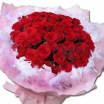 《真愛不渝》60朵玫瑰花束