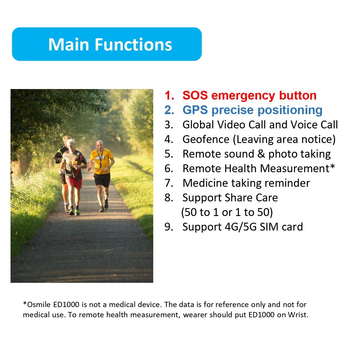 Osmile ED1000 GPS Tracker for dementia & Alzheimer Pendant-2 (GPS Tracker Pendant)