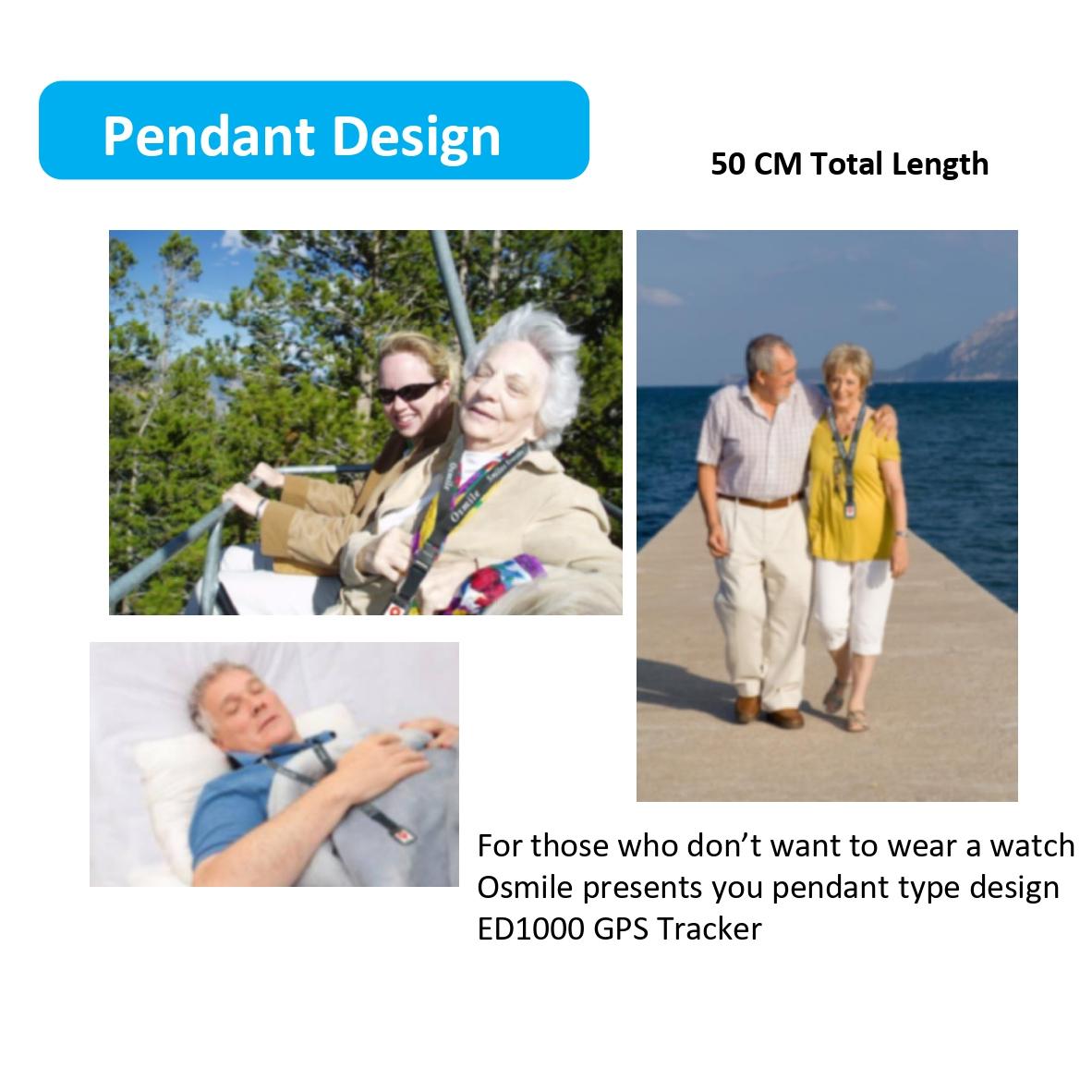 Osmile ED1000 GPS Tracker for dementia & Alzheimer Pendant-4 (GPS Tracker Pendant)