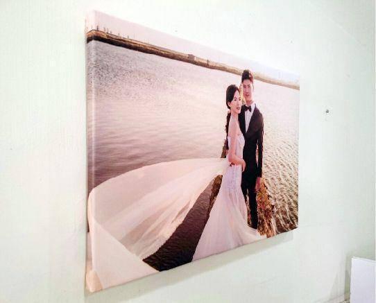 創意無框畫婚禮示意圖側面