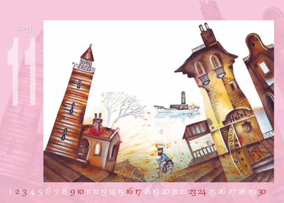 桌曆製作-11月份