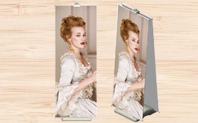 注水式的底座可穩固廣告展架,雙面式的設計可增加廣告宣傳效果,適合店面騎樓使用。