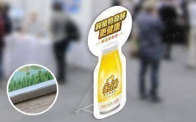 合成板人形看板製作具有防水、重量輕等特性,可做為廣告立板或迎賓牌使用