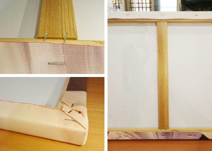 創意婚禮無框畫背面木框與裝訂