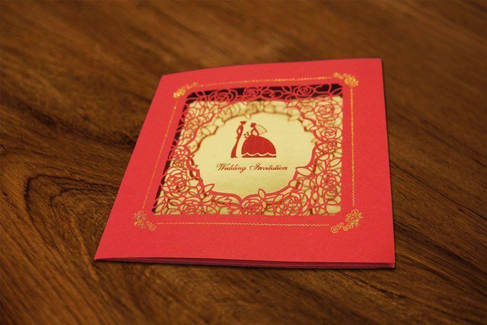 西式紙雕喜帖A6005商品圖1