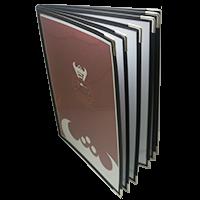 西式透明PVC活頁菜單本 六張12面/黑色
