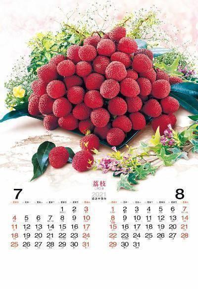 月曆製作-7月份8月份